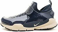 Мужские кроссовки Stone Island x NikeLab Sock Dart Blue, найк