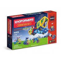 Магнитный конструктор Трансформер, 54 элемента, серия Средства передвижения, Magformers