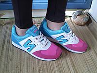 Кроссовки New Balance женские замшевые цветные. Размер 38,39 Маломерят