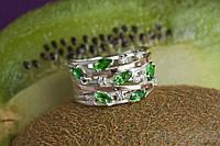 Серебряное кольцо БРИДЖИТ 925 пробы с накладками золота 375 пробы.Серебряное кольцо с золотой пластиной, фото 1