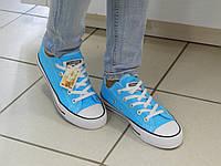 Женские Кеды Converse, цвет- ЛАЗУРЬ. Все лейбы оригинал