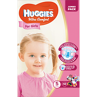 Huggies Ultra Comfort for Girls 5 (12-22кг) 42 шт