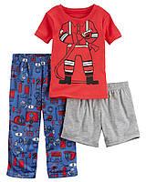 Пижама тройка для мальчика Carters Пожарный