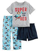 Пижама тройка для мальчика  Carters Обезьянки