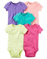 Комплект бодиков для девочки Carters Разноцвет