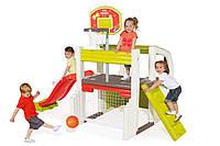 Игровой комплекс  Active Plays Smoby - Франция -  баскетбольная корзина, сетка, столик,горка