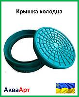 Крышка колодца Ромашка Ø315 полимерпесчаная (зеленая)