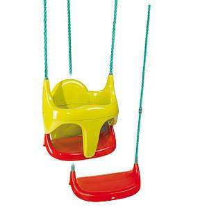 Качель подвесная на тросах детская  Smoby - Франция - яркий дизайн, 2 в 1