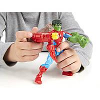 Конструктор Халк - Человек-паук с самолетом Hulk - Spider Man, Super Hero Mashers, Marvel, Hasbro