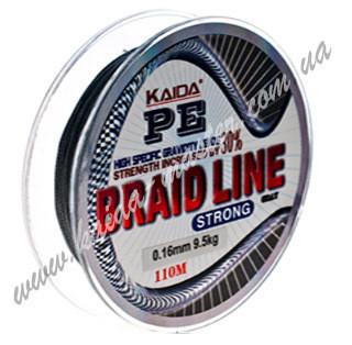 Плетеный шнур 0,16 мм Kaida Braid Line strong YX-112-16, плетенка ...