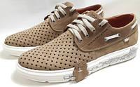 Кожаные кроссовки Lacoste «ClubShoes original» «Beige» р.40-45