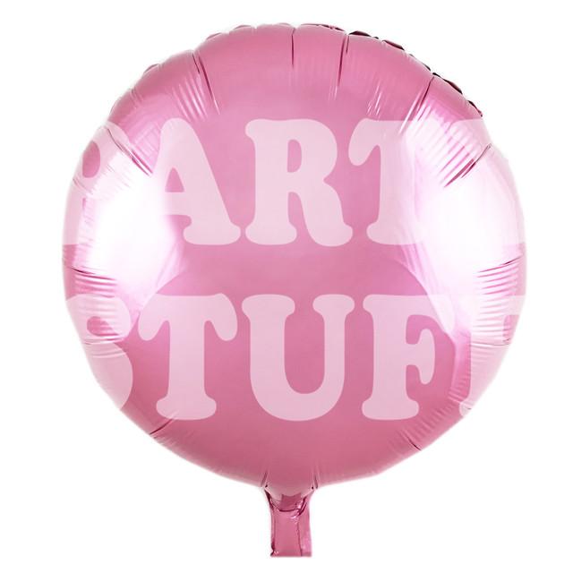 фольгированный шарик светло-розовый