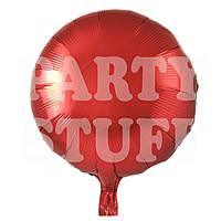 Шарик фольгированный Красный, 44 см