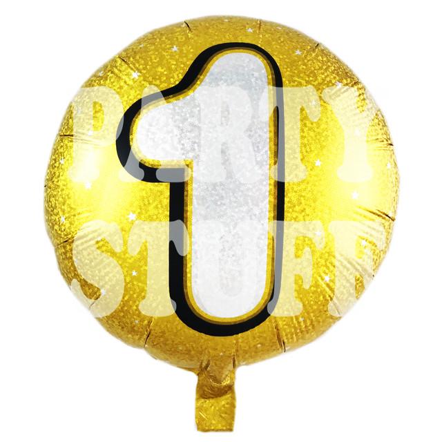 фольгированный шарик цифра 1