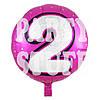 Фольгированный шар Цифра 2 розовый, 44см