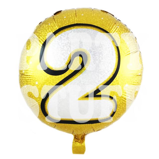 фольгированный шарик цифра 2