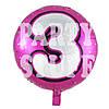 Фольгированный шарик Цифра 3 розовый, 44см