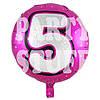 Фольгированный шар Цифра 5 розовый, 44см