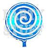 Фольгированный шар Леденец синий, 44 см
