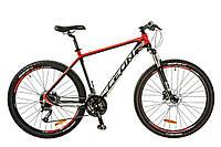 """Велосипед Leon XC-70 AM Hydraulic lock out 14G HDD 18"""" черно-красный 2017"""