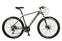 "Велосипед Leon XC-70 AM Hydraulic lock out 14G HDD 18"" чёрно-белый 2017"