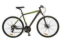 """Велосипед Leon HD-80 AM Hydraulic lock out 14G DD 21"""" серо-зеленый 2017"""
