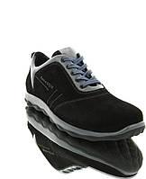 Кросівки чоловічі чорні/сірі, замш/шкіра (1825 чн. Зш_сіра вст) Roma style