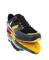 Кросівки чоловічі чорні/жовті, шкіра/замш (1848 чн. Шк_жовт вст) Roma style