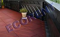 Травмобезопасная резиновая плитка для террасы 500*500*20, 30мм.
