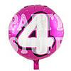 Фольгированный шар Цифра 4 розовый, 44см