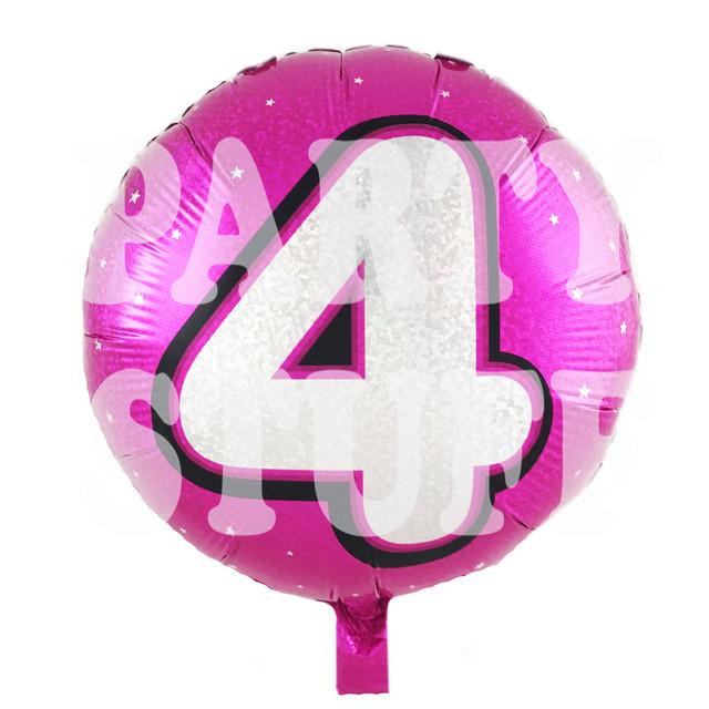 фольгированный шар цифра 4