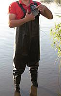 Рыбацкий полукомбинезон из ПВХ черный