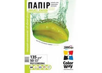 Бумага ColorWay Glossy Self-adhesive 135/80г/м, A4, 50л. (PGS1358050A4)