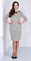 Платье Matini-31039/1 белорусский трикотаж, молочные тона, 48