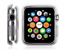 Силиконовый прозрачный чехол для Apple Watch 38mm