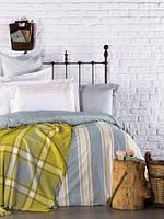 Комплект хлопкового постельного белья + плед KARACA HOME MAIS (7 предметов)
