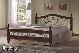 Кровать двуспальная с ковкой Грета (Greta) Onder Metal 160×200