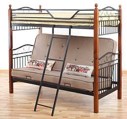 Кровать двухъярусная DD Фан Футон (DD Fun Futon) Onder Metal 90×190/140 ×190