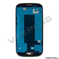 Рамка дисплея Samsung I9300i Galaxy S3, серебряный