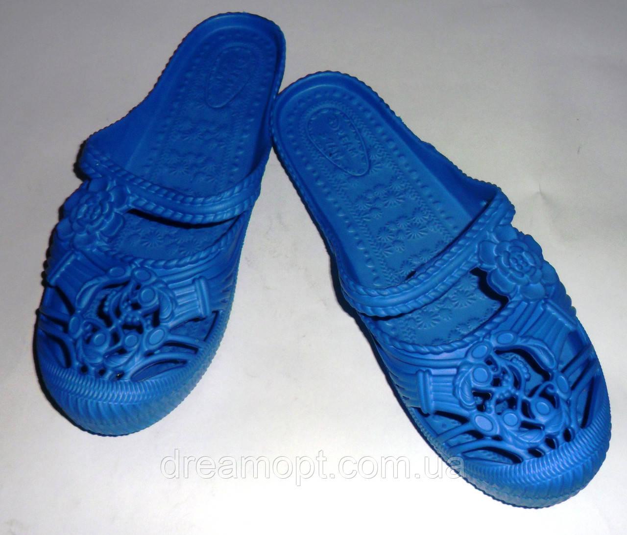 Женские шлепанцы (синие)