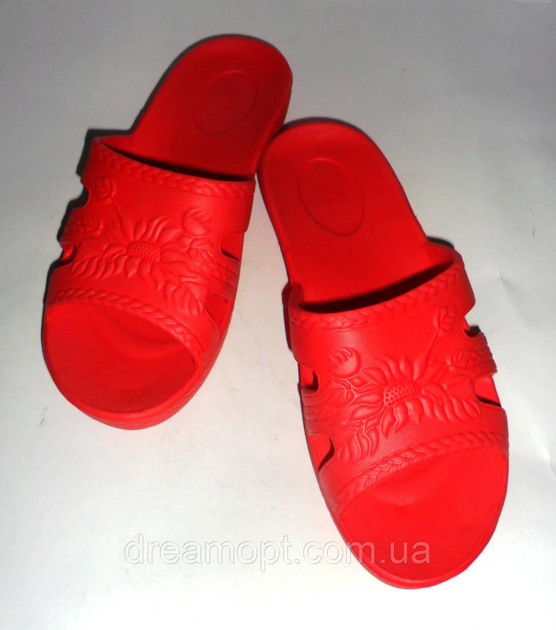 Женские шлепанцы ЕВА 21 модель(красные)
