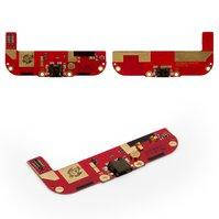 Шлейф для мобильного телефона HTC Desire 700, коннектора зарядки, микрофона, с компонентами