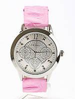 Нежные элегантные часы Honey с ремешком нежно-розового цвета, серебристым циферблатом, мех-м Citizen-Miyota, фото 1