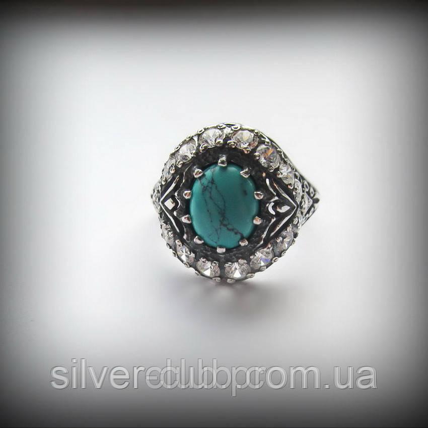 20019bc41655 1013 Серебряное кольцо Чалма с бирюзой 925 пробы - Интернет-магазин  серебряных изделий от украинского