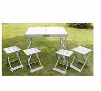 Стол алюминиевый +стулья отдельно C03-3