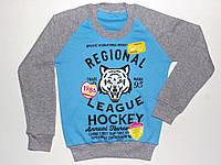 """Реглан с манжетом """"Regional league hockey"""" для мальчика 8,9,10,11,12 лет"""