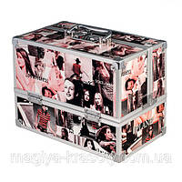 Кейс для косметики с выдвигающимися нишами, журнальный принт, фото 1
