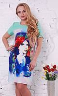Платье женское батал 004 фотопечать