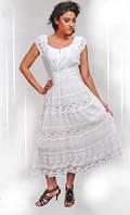 Платье батист белый на широкой резинке