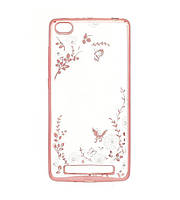 Силиконовый чехол Luxury Flowers на Xiaomi Redmi 3 Pink